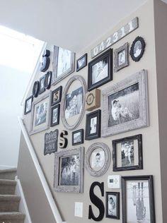 27 mismatched vintage frames - Shelterness