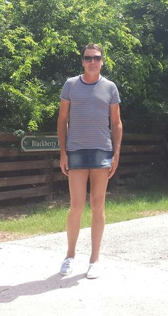 Wearing L'eggs pantyhose to the walking park!