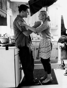 Leonardo Dicaprio and Kate Winslet in action in Revolutionary Road