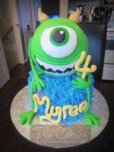 Mike Wazowski Monster's Inc. cake