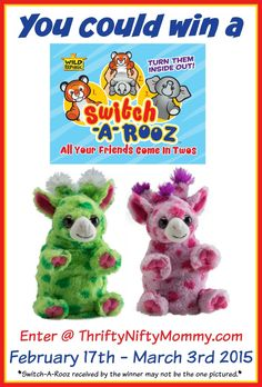 Meet Switch-A-Rooz, the cutest new plush toy that's two friends in one! Find out more and enter to win one too!