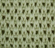 Eyelet Moss Stitch - Right Side Stitch Sample