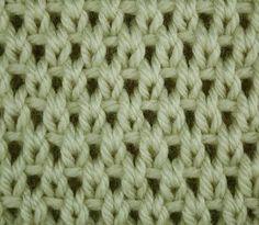 Eyelet Moss Stitch