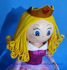 FOFUCHAS. Manualidades y Creaciones Maite: Fofucha Princesa AURORA.