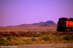 Train crossing the desert in New Mexico. Photo by FireHorse Photography aka Cheryl Farrens