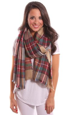 Want this scarf so badly. Use coupon code SRATSTAR to get 10% off your order. Mad for Plaid Scarf (multi)- $28 #Riffraff