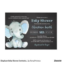 Elephant Baby Shower Invitation Template for a Boy Instantly Baby Shower Invitations For Boys, Baby Shower Themes, Baby Boy Shower, Shower Ideas, Baby Shower Chalkboard, Baby Elefant, Baby Shower Invitaciones, Elephant Baby Showers, Decoration