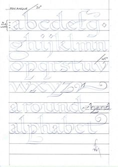 Free Printable Calligraphy Alphabet Practice Sheets  Modern