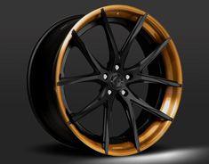 Lexani bronze lip black center wheel | Optional black inner, with a black center, and bronze tinted lip.