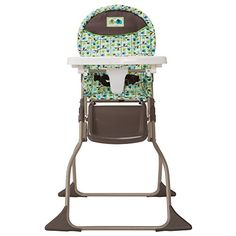 Graco 174 Swift Fold High Chair In Sprinkle Rattan Dining
