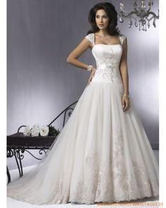 2013 Neue Brautkleider Ballkleid aus Satin Stickerei und Perlen auf dem Korsett zu verzieren A-line Rock