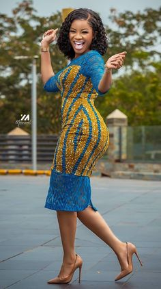 Serwaa Amihere dazzling in an African fashion dress, African print dresses African clothing, Ankara styles 2020 African Fashion Ankara, Latest African Fashion Dresses, African Print Fashion, African Style, Africa Fashion, Dress Fashion, Fashion Fashion, Short African Dresses, African Print Dresses