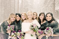 winter bridesmaid look // photo by Jennifer Eileen