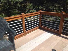 Use conduit for railings..