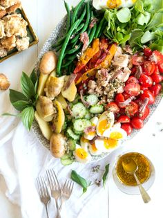 Wild Greens and Sardines : 'Salade Nicoise' ---- Remove croutons for extra clean; Use wild caught tuna and sardines