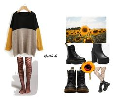 """Rock it"" by cutenevii on Polyvore featuring moda, Leg Avenue, Forever 21 y Dr. Martens"