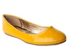 WOMENS YELLOW PATENT FLAT DOLLY BALLET BALLERINA PUMPS SHOES LADIES UK SIZE 3-8