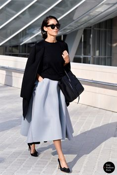 Black & Ice Blue, full skirt.