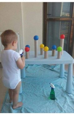 Water squirt and ball game
