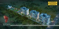 3d Architectural Rendering, 3d Rendering, Cover Design, Exterior, Building, Model, Condos, Architecture