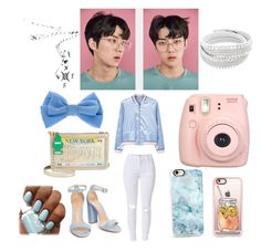 """""""Exo; Sehun"""" by beyond-answers ❤ liked on Polyvore featuring MANGO, Betsey Johnson, Fujifilm, claire's and Casetify"""