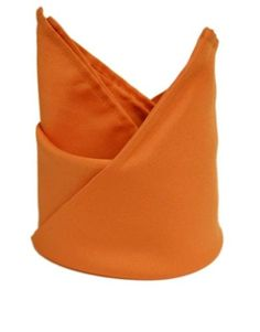 Orange Polyester Cloth Dinner Napkins by smartyhadaparty.com