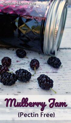 Mulberry Recipes, Jelly Recipes, Jam Recipes, Canning Recipes, Drink Recipes, Delicious Recipes, Yummy Food, Mulberry Jam, Vegetables Garden
