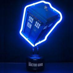 Lampe Néon Tardis Dr Who. Kas Design Distributeur de Produits Dr Who