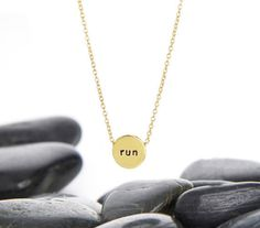 Running Necklace Runner Necklace Running Half by HouseofMetalworks