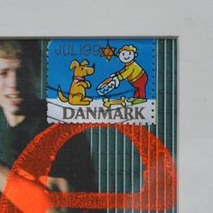 Lovely collage with danish stamp