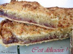 Recette Tarte à la frangipane et confiture de fraises - notée 4,4 sur 5 par 34 internautes
