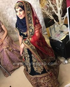 Latest Bridal Hijab Styles Dresses Designs Collection 2017-2018