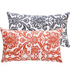 Orange+and+Gray+Throw+Pillow+Cover+12x20+by+ChloeandOliveDotCom,+$21.00