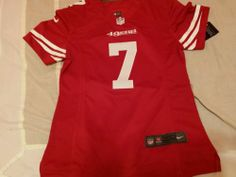 Women San francisco 49ers jersey kaepernick size M.SEW ON NAME AND NUMBER red