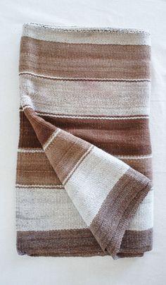 Vintage Andean Baby Alpaca Blanket/Rug #5