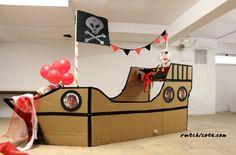 ผลการค้นหารูปภาพสำหรับ how to make a pirate ship wheel out of cardboard Cardboard Pirate Ship, Cardboard Toys, Pirate Birthday, Pirate Theme, Mermaid Birthday, Pirate Ship Wheel, Diy For Kids, Crafts For Kids, Bateau Pirate