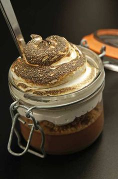 Superba Snack Bar, Venice, CA - Desserts include a take on s'mores in a canning jar.