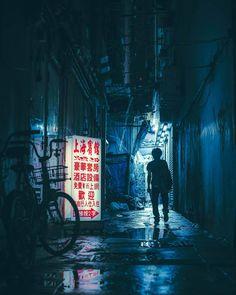 """""""Mong Kok Noir - My dystopian / cyberpunk-ish photograph of an alley in Hong Kong. Photo by Sean Foley a. Night Aesthetic, City Aesthetic, Cyberpunk City, Street Photographers, Urban Photography, Night Photography, Blade Runner, Web Design, Hong Kong"""