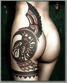 awesome Haida style tatt.... perfect placement too :)