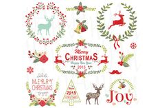 Check out Christmas Wreath & Frame Collection by YenzArtHaut on Creative Market