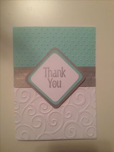 cricut thank you card diy