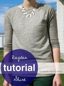 Elizabeth Avenue: Raglan Shirt Tutorial