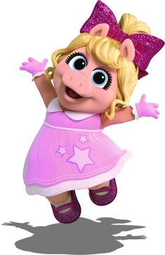 Muppet Babies, Little Girl Birthday, Diy Birthday, Birthday Ideas, Piggy Muppets, Kermit And Miss Piggy, Baby Images, Jim Henson, Disney Junior