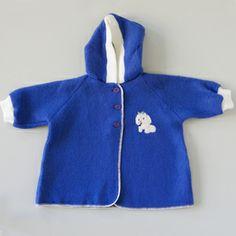 Vintage 60's snuggly fleece baby vest