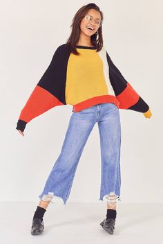 Shop Ecote Mixed Stitch Colorblock Sweater at Urban Outfitters today. We carry all the latest styles, colors and brands for you to choose from right here.