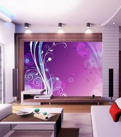 Abstract Timbo Wall Mural, 6-Feet 11-Inch By 4-Feet 11-Inch