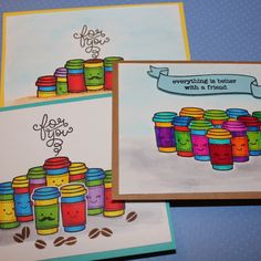 Made some cards for Summer coffee lovers blog hop and went crazy with Stabilo pens and colours ;)) #cardmaking #coffeeloversbloghop #stabilo #summerclh