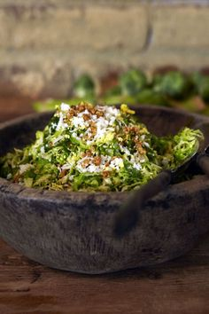 Shaved Brussels Sprouts Salad with Marcona Almonds and Pecorino Recipe