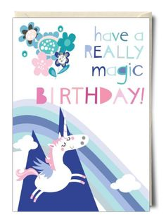 Have a really magic birthday - Unicorn card by Pink Pig