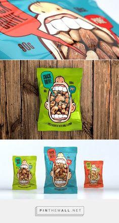 #Plastic #packaging for Snack Drive snacks, via Behance.